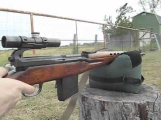 Стрельба из СВТ-40 с оптикой