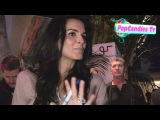 Angie Harmon greets fans while departing Pre-SAG Party at Chateau Marmont in West Hollywood