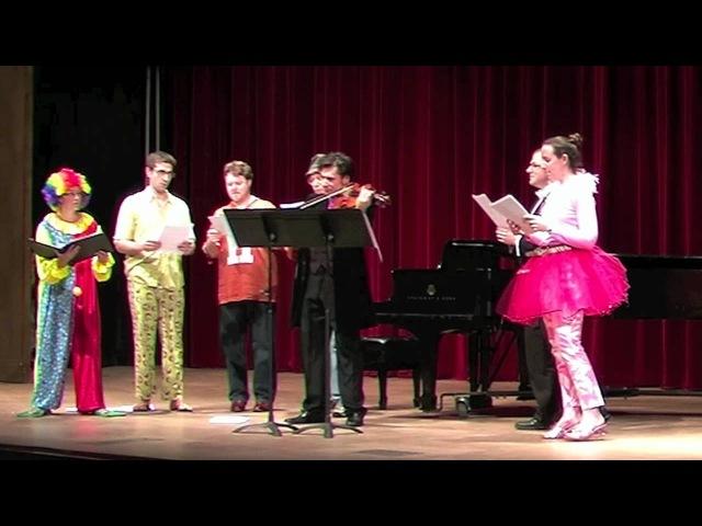 Ha! for Solo Viola and Shouty Chorus, by Robbie Ellis
