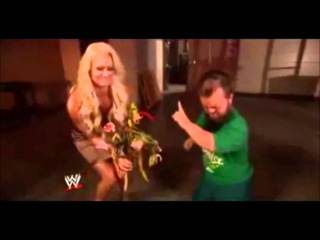 Maryse Slaps Hornswoggle With Flowers He Gave Her