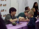 Colin Morgan and Bradley James signing at MCM expo