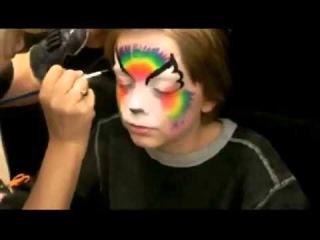 Как нарисовать бабочку и тигра очень быстро и просто своими руками, используя губку краски и кисть.