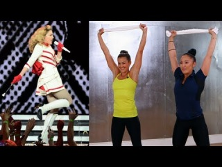 Madonna's Towel Workout, Full Body Exercise, Fit How To