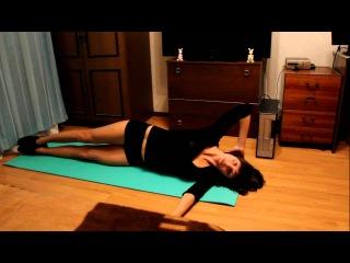 Дарья Лисичкина ( Упражнения для косых мышц живота )