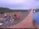 Dronos прыгает с огромного трамплина на bmx на Селигере 2012