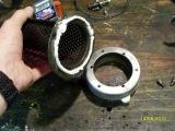 Honda Fireblade: Re-packing a motorcycle exhaust silencer