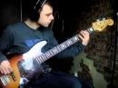 1984 mij maya jazz bass with fender flatwound stings demo