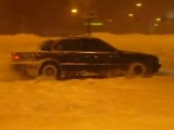 зимний дрифт bmw 750 e38 / winter drift bmw 750 e38