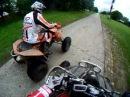 KTM 450 xc vs KAWASAKI kfx 450 r -DRAG race SERBIA