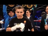 Golovkin Intro and Face Off vs Rosado By Michael Buffer