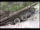 Останки Т-80БВ и БТР-70 после 1 Чеченской войны / Chechen war