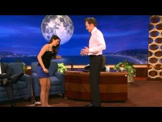 Nina Dobrev Uses Conan As Her Human Yoga Wall