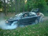 Fiat Bravo HGT burnout