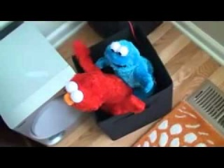Elmo and Cookie Monster have some Adult Fun