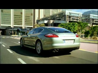 Porsche Panamera S Hybrid on the road