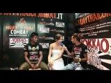 Interview Stefania Picelli & Buakaw Por Pramuk @Muay Thai Combat Fan Expo 2011