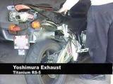 CBR 600RR stock vs Yoshimura RS-5 Titanium