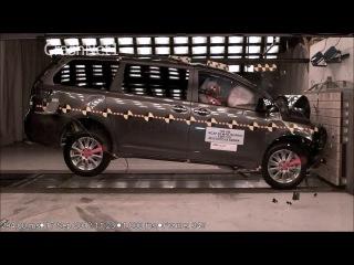 Тойота Сиена краш-тест видео