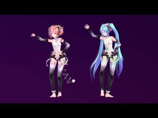 [MMD] Kasane Teto & Hatsune Miku - Kiss Me