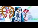 Luka, Miku & Teto - Triangle Angel [MMD-PV]