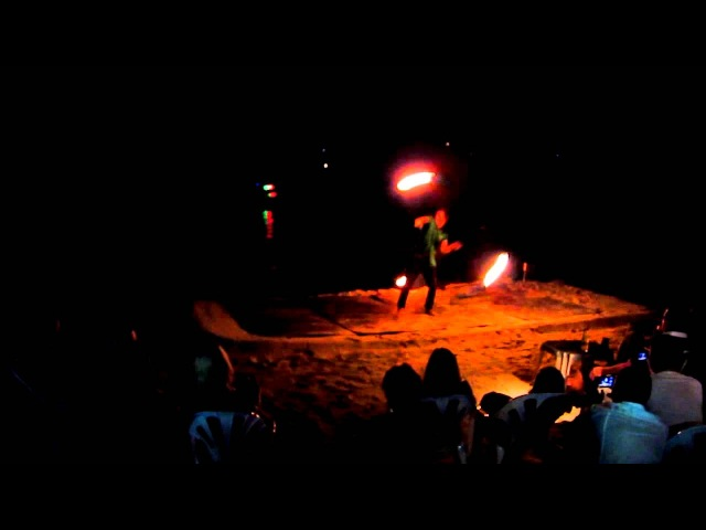 Fire show on phi phi island 2013
