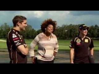 Bruno Senna and Vitally take Macy Gray for a spin in Brazil