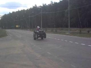 Stels Dinli 700 на задних колёсах