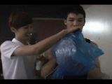 Teen Top - Messing around with helium behind the set of Clap MV