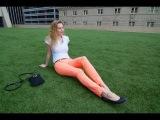 Неоновые джинсы и летний наряд дня / Summer neon OOTD