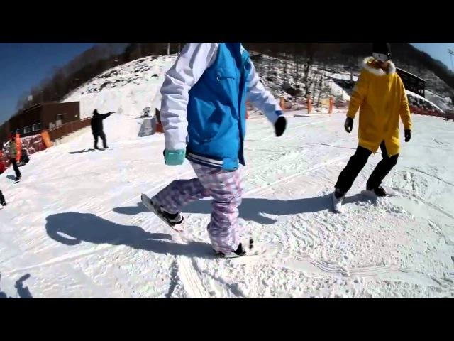 47cm INLINE SKI - корейцы укоротили сноублейды:)