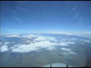 Красота... Рейс Крывой Рог -Белгород Вид из кабины пилота Боинг 747