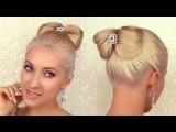 Hair bow updo tutorial Prom hair tutorial Elegant wedding hairstyle for medium long hair