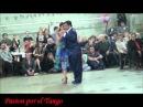 Roxana Suarez y Sebastian Achaval bailando el Vals UNA LAGRIMITA en La Milonga del Moran