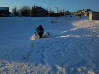 Снегоход Рысь 500+ привыкаю к экстрим езде