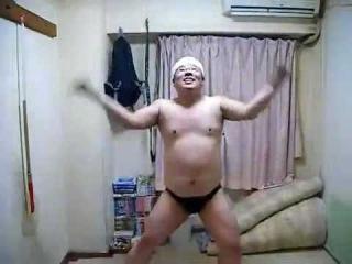 Extreme Dancing Part 2, Half naked Japenese guy dances.