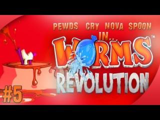 Nova / Sp00n / Cry / Pewds - Worms Revolution (5) Match 3