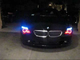 Red Halo's, upgraded 10000k HID from 8000k, blue signals and parking lights