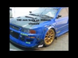 RC wide body Paint Subaru WRX WRC STI Carbon hood Rally-HPI.wmv