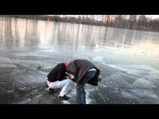 Polenböller unter Eis