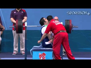 Paralympic games 2012 - Bench press Rahman Siamand (Iran)