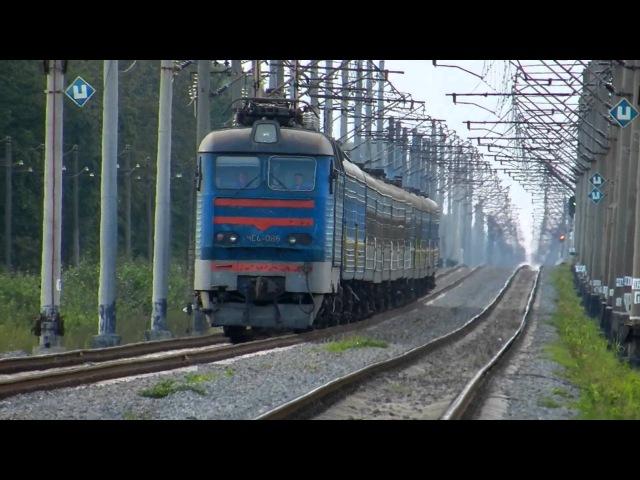 ЧС4 086 в пути с пасс поездом ВОЛЫНЬ