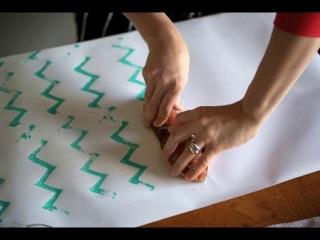 Как из овощей сделать штампы для украшение оберточной бумаги.