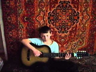 Прикол))_Песня на унитазе-Ю. под гитару.  wmv