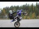 Yamaha WR 125x stunts