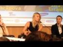 Sharapova conferenza stampa La Grande Sfida