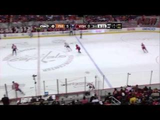 Хоккей - Силовой прием судьи,против Киммо Тимонена в матче Вашингтон-Филадельфия.