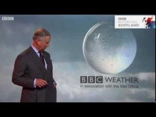 BBC News HD - Принц Чарльз представляет погоду на BBC Scotland 2012
