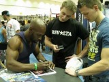 Michal Sopor getting a signed photo from Hannibal For King
