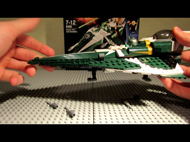 Lego Star Wars 9498 Saesee Tiin's Jedi Starfighter Review