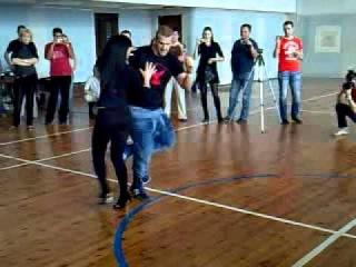 Factoria de Baile  bachata workshop with  music at 2 Belarusian bachata festival